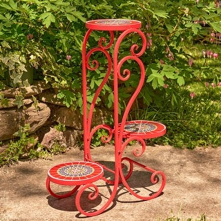 """Link to Set of 2 """"Paris II"""" Mosaic Plant Stands - Large Similar Items in Outdoor Decor"""