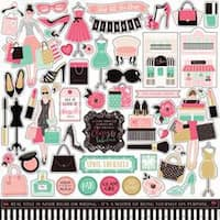"""Elements - Fashionista Cardstock Stickers 12""""X12"""""""