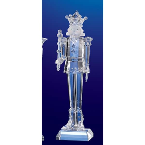 "Club Pack of 12 Icy Crystal Decorative Christmas Nutcracker Figurines 6.5"" - CLEAR"