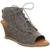 Bearpaw Women's Aracelli Wedge Shootie Black II Suede