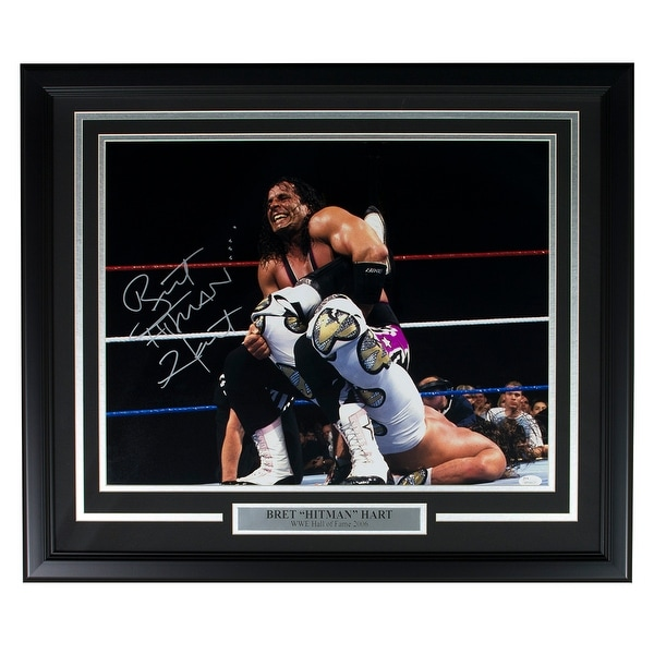 Bret Hart Signed WWE 8x10 WrestleMania XII VS Shawn Michaels Photo JSA ITP