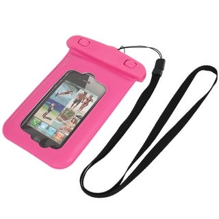 Unique Bargains Waterproof Bag Holder Pouch Case Pink for iPhone 4/4S w Neck Strap