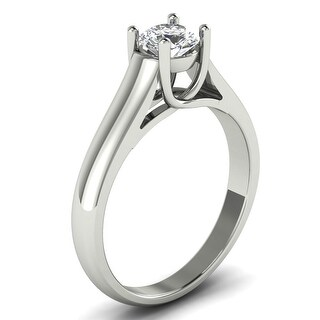 1 2 CT 4 Prong Round Cut Diamond Solitaire Engagement Ring In 14KT