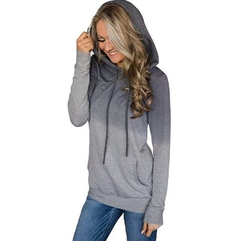 Gradient Hoodies Casual Sweatshirt Tops