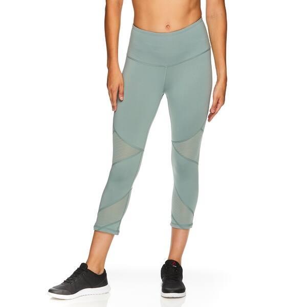 Shop Reebok Women S Ascend High Rise Capri Leggings Chinois Green Overstock 29095788