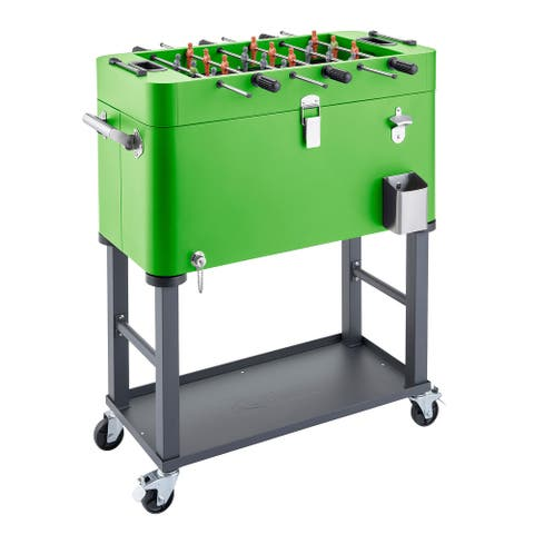 TRINITY 80QT Foosball Cooler Detachable Tub w/ Cover, Green - 80 Quart