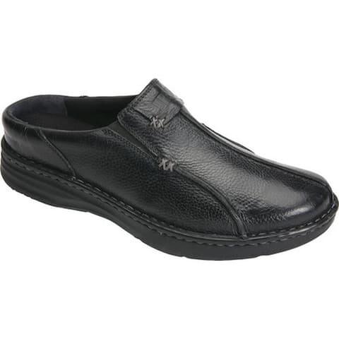 Drew Men's Jackson Mule Black Leather