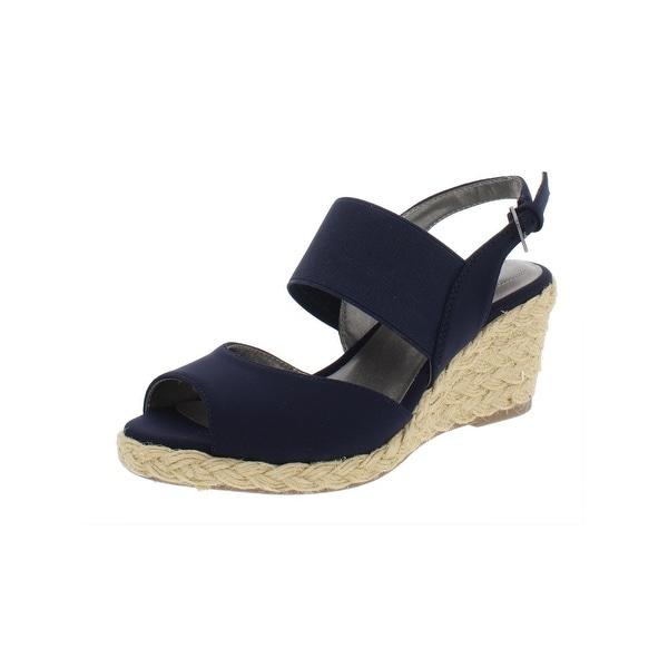 fba12417de2 Shop Bandolino Womens Himeka Wedge Sandals Satin Espadrille - Free ...