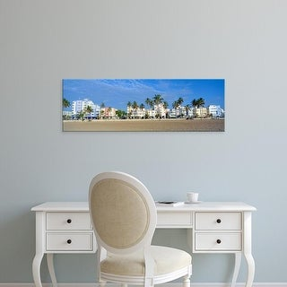 Easy Art Prints Panoramic Images's 'SoBe, Miami Beach, Florida' Premium Canvas Art