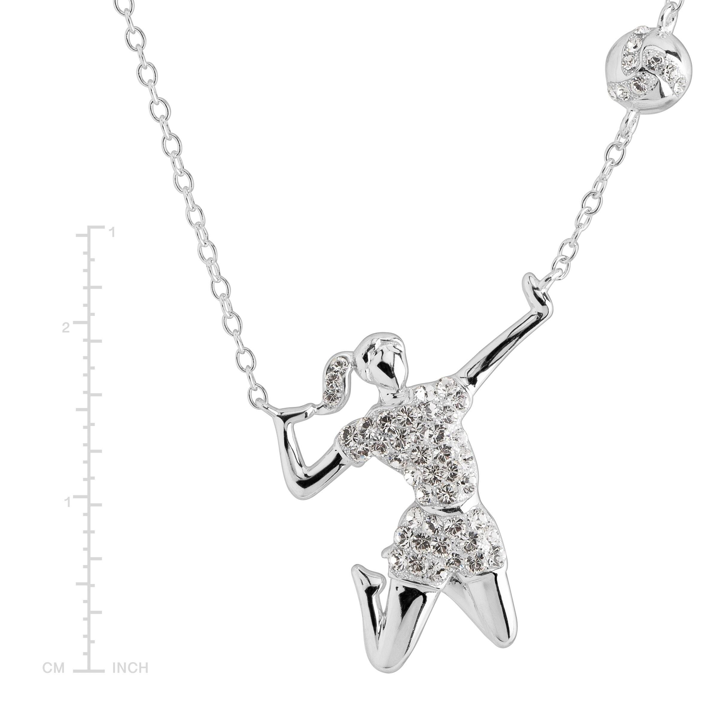 Sterling Silver Lacrosse Pendant 1 1//4 inch