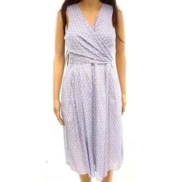 fc826f52cb69d Ivanka Trump Women's Polka Dot Tie Faux-Wrap Dress
