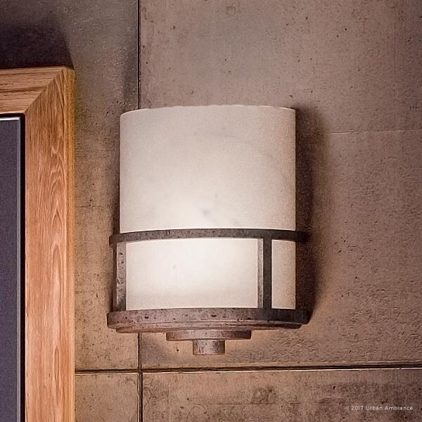 Luxury Rustic Indoor Wall Light 11 H X 8 5 W With Craftsman Style Banded Wrought Iron Design Forged Finish