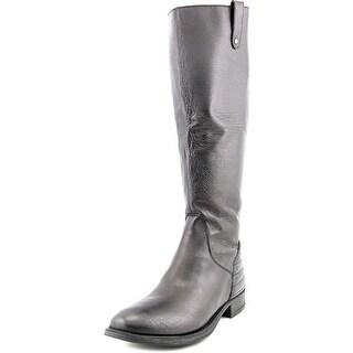 Steve Madden Arries Women Round Toe Leather Black Knee High Boot