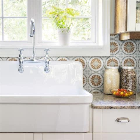 SomerTile Revival Ring Mini 4x4-inch Ceramic Floor and Wall Tile (27 tiles/3.29 sqft.) - CASE