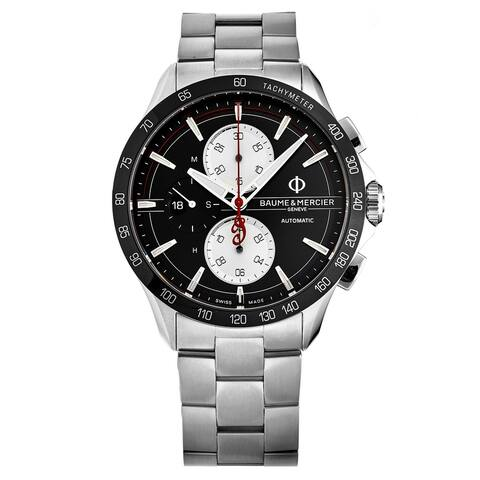 Baume & Mercier Men's 'Clifton Club' Black Dial Swiss Automatic Watch