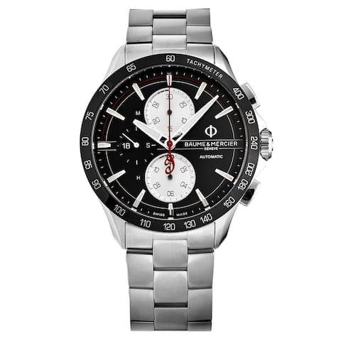 Baume & Mercier Men's M0A10403 'Clifton Club' Black Dial Chronograph Swiss Automatic Watch