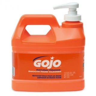 Gojo 0948-04 Natural Orange Smooth Hand Cleaner, Pump Dispenser, 1/2 Gal