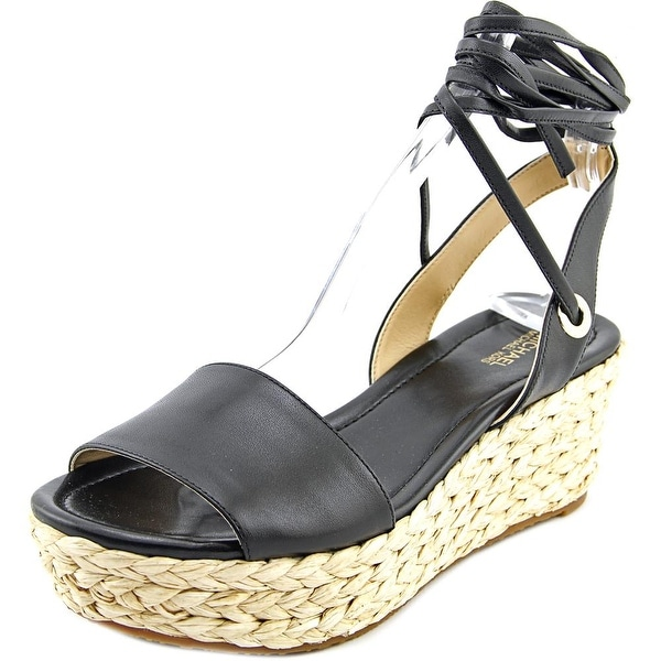 Michael Michael Kors Margie Flatform Women Open Toe Leather Platform Sandal
