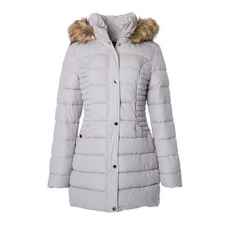 INC International Concepts Faux-Fur-Trim Quilted Puffer
