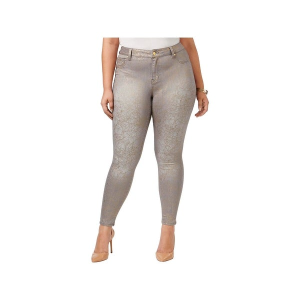 cheap for sale elegant and graceful best shoes Celebrity Pink Womens Skinny Pants Crackled Grey Wash