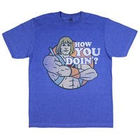 He-Man Men's Classic Distressed How You Doin'? Licensed T-shirt Heathered Royal