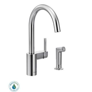 Moen 7165 Single Handle Kitchen Faucet with Side Spray from the Align Collection
