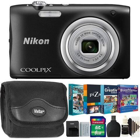 Nikon Coolpix A100 20.1 MP Compact Digital Camera Black + Mega Kit