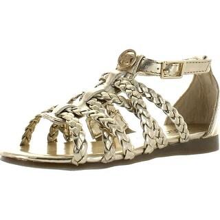 Michael Kors Girls Demi Lacey Gladiator Flat Sandals