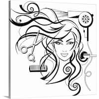Premium Thick-Wrap Canvas entitled hair style - Multi-color