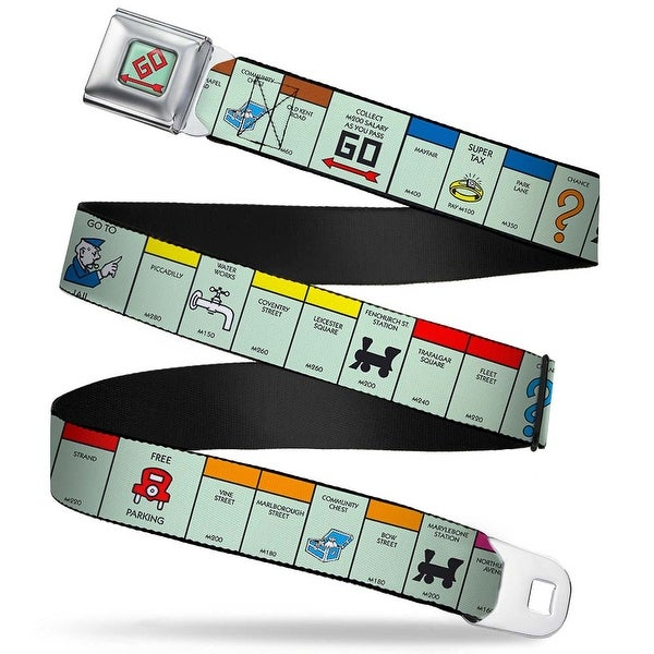 Monopoly Go Space Full Color British Monopoly Board Game Spaces Webbing Seatbelt Belt