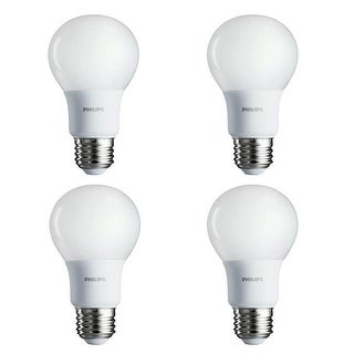 Phillips 461129 8.5W A19 E26 Soft White LED Light Bulb, Pack of 4