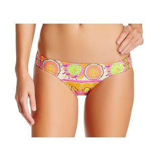 Trina Turk NEW Pink Women's 4 Woodblock Hipster Bikini Bottom Swimwear