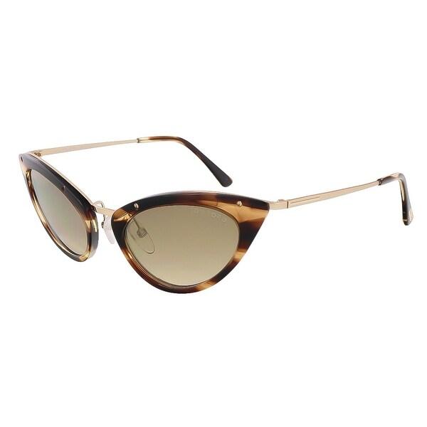 Tom Ford FT0349/S 47G Grace Havana Cateye Sunglasses - 52-20-135
