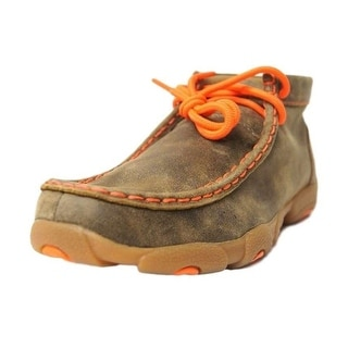 Twisted X Casual Shoes Boys Kids Leather Moc Brown Orange YDM0006