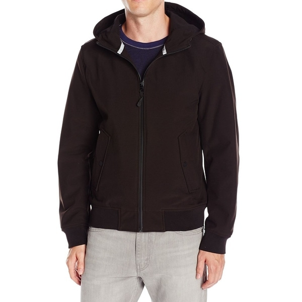 bf520a69a Shop Guess NEW Black Mens Size Large L Hooded Softshell Windbreaker ...