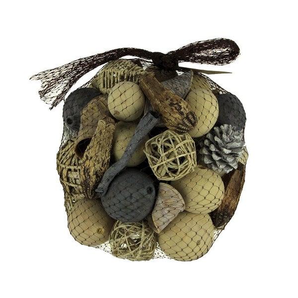 Neutral Beige Decorative Mushroom Mix Assorted Dried Botanicals In a Bag - 8 X 9 X 9 inches