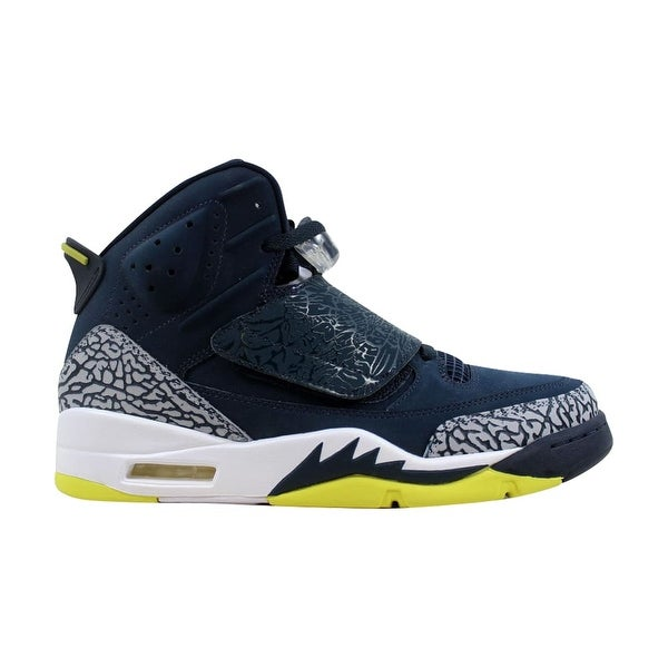 b89c2c51b32b Shop Nike Men s Air Jordan Son Of Mars Armory Navy Electrolime-White ...