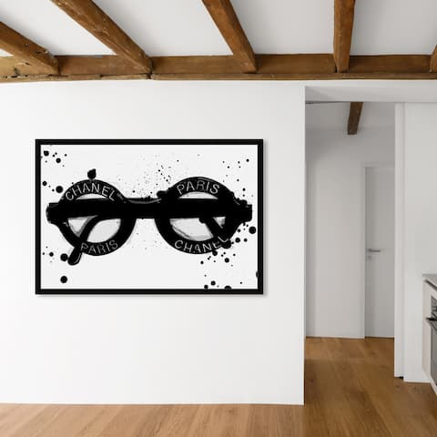 Oliver Gal 'Fashionable Eyes' Fashion and Glam Wall Art Framed Print Accessories - Black, White