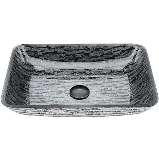 Link to VIGO Silver and Black Rectangular Vessel Bathroom Sink Similar Items in Sinks