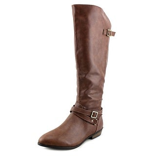 Material Girl Capri Women  Round Toe Synthetic Brown Knee High Boot