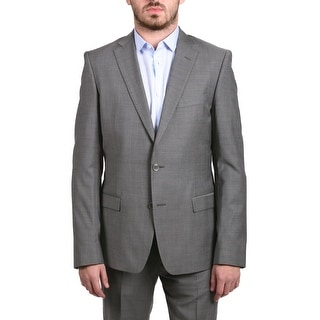 Versace Collection Men's Pinstripe Two-Piece Wool Suit Grey/Light Grey
