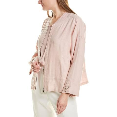Eileen Fisher Cuffed Linen Jacket