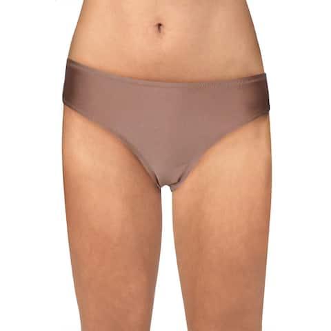 Sam Edelman Womens Cheeky Hipster Swim Bottom Separates - Rose Gold