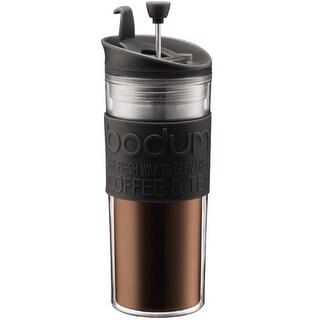 Bodum 11100-01BUS Travel French Press Coffee Maker, 15 Oz, Black
