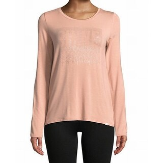 Marc New York NEW Blush Pink Womens Size Large L Embellished Knit Top