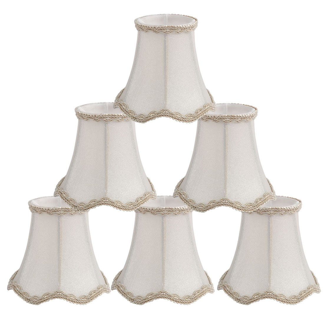 Shop Black Friday Deals On Wall Ceiling Clip On Lamp Shades Light Cover White 3x5 3x4 7inch Set Of 6 Overstock 22485290