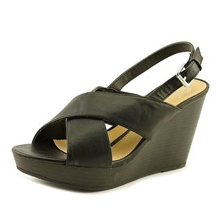 New Directions Regis   Open Toe Synthetic  Wedge Sandal