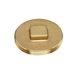 """Oatey 42370 185 Brass Cleanout Plug w/Raised Head, 2"""""""