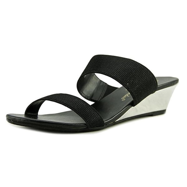 Athena Alexander Spend It Open Toe Synthetic Wedge Sandal - 9.5