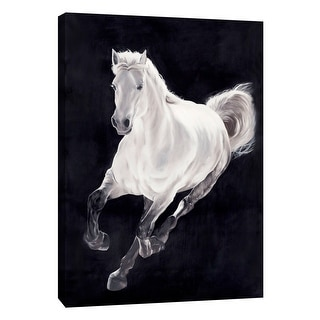 "PTM Images 9-105139  PTM Canvas Collection 10"" x 8"" - ""White Horse"" Giclee Horses Art Print on Canvas"